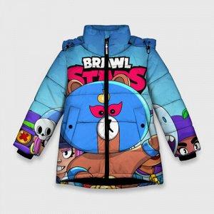 Зимняя куртка для девочек 3D «BRAWL STARS EL BROWN»