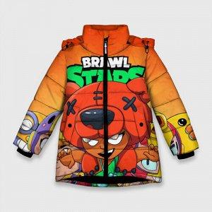 Зимняя куртка для девочек 3D «BRAWL STARS NITA»