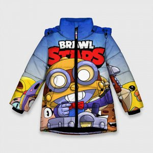 Зимняя куртка для девочек 3D «BRAWL STARS CARL»