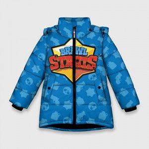 Зимняя куртка для девочек 3D «Brawl Stars»
