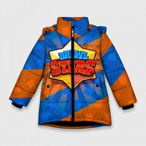 Зимняя куртка для девочек 3D «Brawl Stars 1»