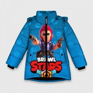 Зимняя куртка для девочек 3D «Brawl Stars 11»