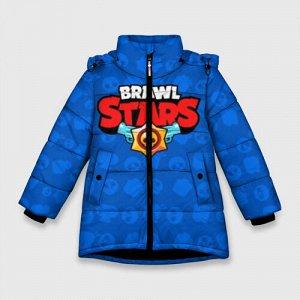 Зимняя куртка для девочек 3D «Brawl Stars 12»