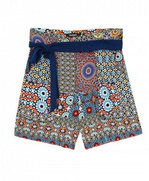 Женские шорты текстильные с текстильным поясом