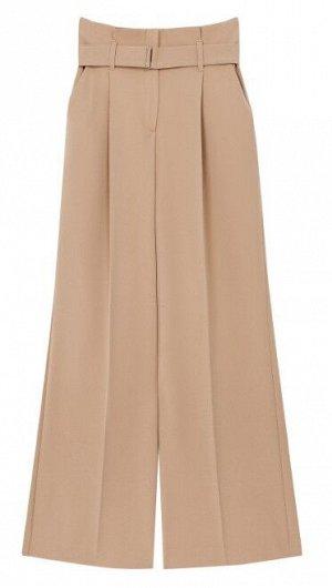 Женские брюки текстильные с текстильным поясом