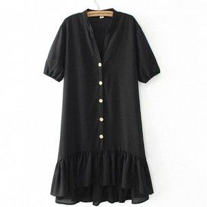 Шифоновое платье,черный