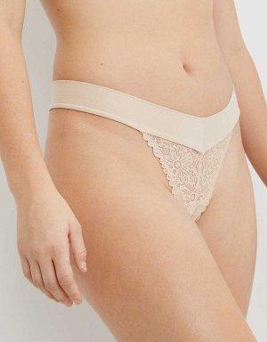 Aerie Blossom Lace Sunnie Thong Underwear