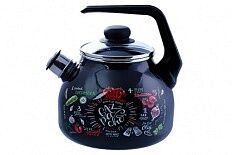Чайник Чайник эмал 3,0л со свистком Gazpacho ТМ Appetite Объем, л./размер, см: 3.0 л Материал: эмалированная сталь Коллекция/серия: Gazpacho Торговая марка: Appetite Толщина дна: 1 Толщина стенок: 1 И