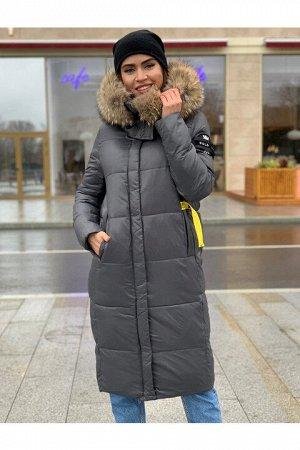 Женская зимняя куртка 1902 серая