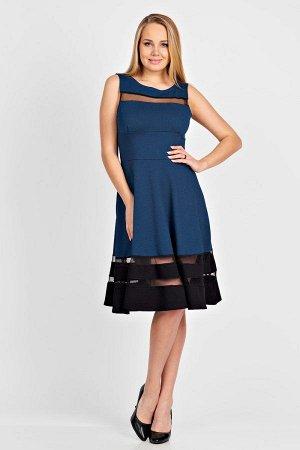 Платье П 170 (Индиго-черный)