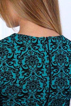 Платье с баской П 236 (Зеленое)