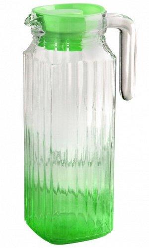 Кувшин Кувшин стеклянный 1,1л зелен TM Appetite Объем, л./размер, см: 1.1л Материал: стекло Торговая марка: Appetite Тип упаковки: цветная коробка