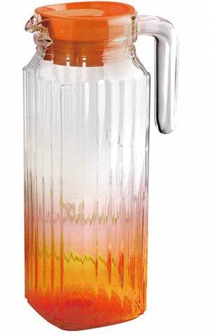 Кувшин Кувшин стеклянный 1,1л оранж TM Appetite Объем, л./размер, см: 1.1л Материал: стекло Торговая марка: Appetite Тип упаковки: цветная коробка