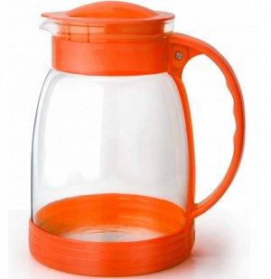Кувшин Кувшин стеклянный 2л оранжевый TM Appetite Объем, л./размер, см: 2 л Материал: термостойкое стекло Торговая марка: Appetite Тип упаковки: цветная коробка Крышка: пластмассовая термостойкое стек