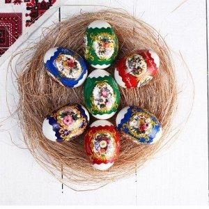"""Пленка Пасхальная термоусадочная плёнка """"Цветы ретро"""" на 7 яиц Разрезать данную плёнку по отмеченным линиям перфорации, это значит отделить пленку на отрезки, в которые в последствии будем одевать яйц"""