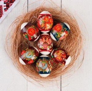 "Пасхальная термоусадочная плёнка ""Петриковская роспись"" на 7 яиц"