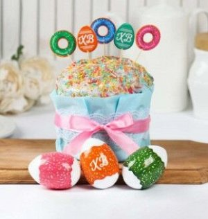 Пасхальный набор для украшения кулича «Пончики»