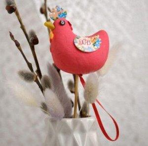 Сувенир пасхальный на палочке «Курочка. Цветочный»