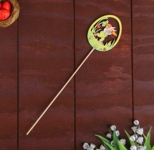 Декор на палочке «Зайчик с морковкой»