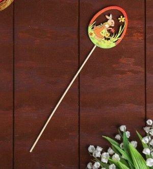 Декор на палочке «Зайка пасхальный»