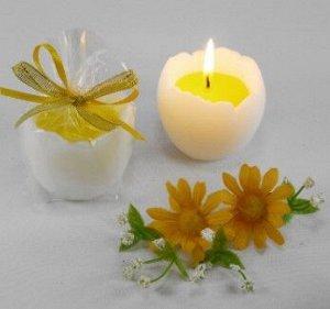 "Декоративная свеча ""Яйцо с желтком"""