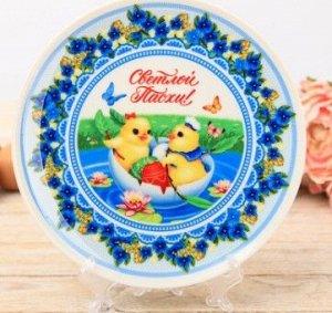 Пасхальная тарелка сувенирная «Светлой Пасхи!»