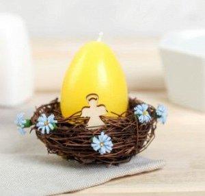 Свеча-яйцо в гнезде «Ангел»