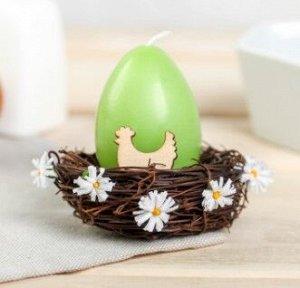 Свеча-яйцо в гнезде «Курочка»