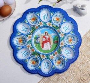 Пасхальная подставка на 12 яиц и кулич «Ангел»