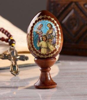 """Сувенир Яйцо на подставке икона """"Святое семейство"""""""