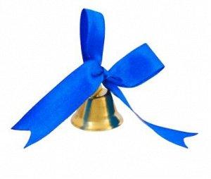 Колокольчик с тёмно-синим фигурным бантом