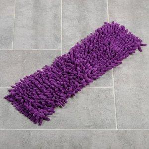 Насадка для плоской швабры «Синель», 43?13 см, цвет фиолетовый