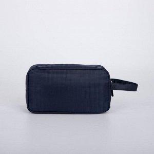 Косметичка дорожная, отдел на молнии, наружный карман, цвет синий