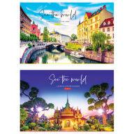 """Альбом для рисования 24л., А4, на склейке ArtSpace """"Путешествия. See the world"""""""