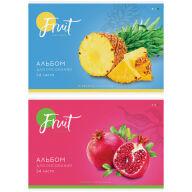 """Альбом для рисования 24л., А4, на скрепке ArtSpace """"Фрукты. Colorful fruits"""""""