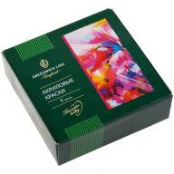 "Краски акриловые Greenwich Line ""Ассорти"", 09 цветов, 20мл, картон"