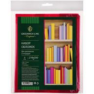 Набор обложек (5шт.) 210*350 для дневников и тетрадей, Greenwich Line, с закладкой, ПВХ 110мкм, цветная