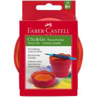 """Стакан для воды Faber-Castell """"Clic&Go"""", складной, красный"""