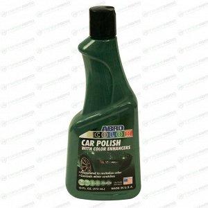 Полироль кузова ABRO Color Car Polish, для восстановления яркости лакокрасочного покрытия зелёных автомобилей, бутылка 473мл, арт. AB-301-GRN