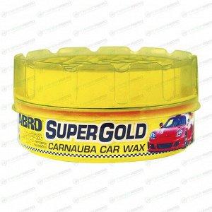 Полироль кузова ABRO Super Gold Carnauba Car Wax, защитный, с тефлоном и воском карнауба, с водоотталкивающим эффектом, банка 230г, арт. PW-400