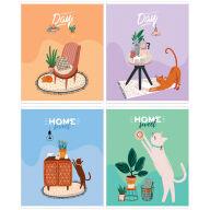 """Тетрадь 48л., А5, клетка ArtSpace """"Рисунки. Sweet cat"""""""
