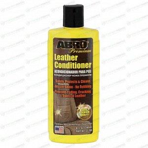 Полироль-кондиционер салона ABRO Premium Leather Conditioner, для кожи и винила, с защитой от от УФ-лучей, бутылка 240мл, арт. LC-750