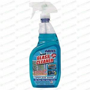 Очиститель стёкол и зеркал ABRO Premium Glass Cleaner, с обезжиривающим эффектом, бутылка с триггером 650мл, арт. GC-300