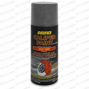 Краска аэрозольная ABRO Caliper Paint, для тормозных суппортов, термостойкая, серебристая, 312г, арт. CP-555-SIL