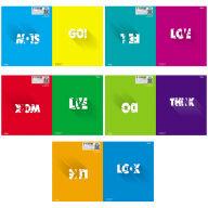 "Тетрадь 48л., А5, клетка двойная Hatber ""Bright colors"", тиснение"