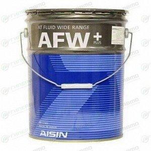 Масло трансмиссионное Aisin AT Fluid Wide Range AFW+ синтетическое, универсальное, 20л, арт. ATF6020