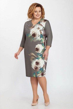 Платье LaKona 1187 олива