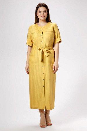 Платье Панда 477280 горчичный
