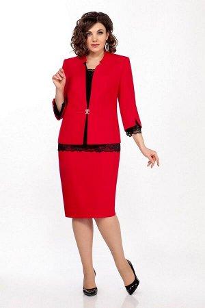 Блуза, жакет, юбка LaKona 1338 красный