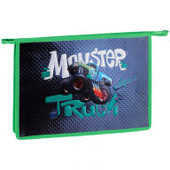 """Папка для тетрадей 1 отделение, А4, ArtSpace """"Monster truck"""", ламинированный картон, конгрев, фольга,"""
